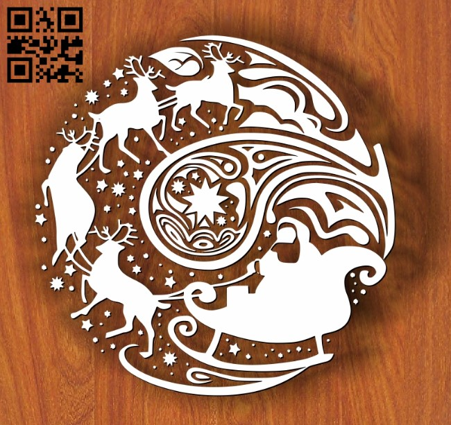 Christmas E0011985 file cdr and dxf free vector download for laser cut