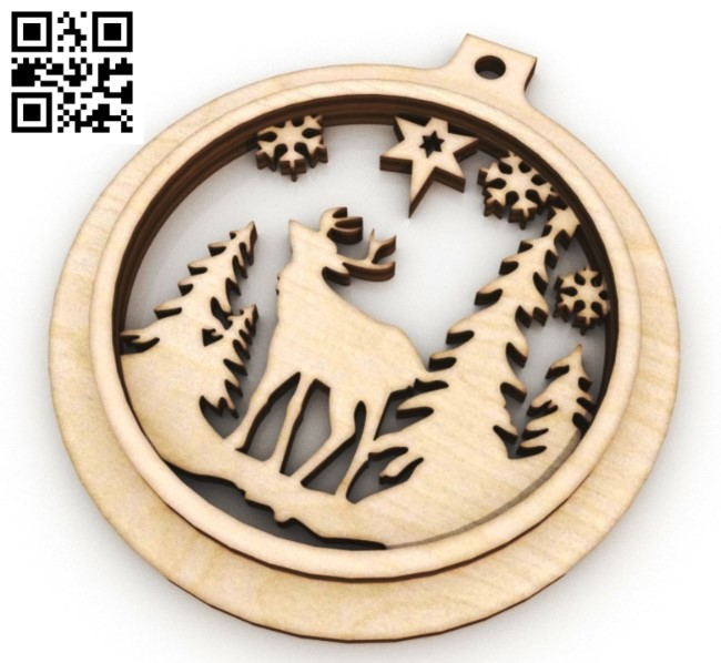Christmas balls E0012123 file cdr and dxf free vector download for laser cut
