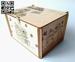 Christmas box E0012121 file cdr and dxf free vector download for laser cut