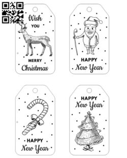 Christmas card E0012099 file cdr and dxf free vector download for print or laser engraving machines