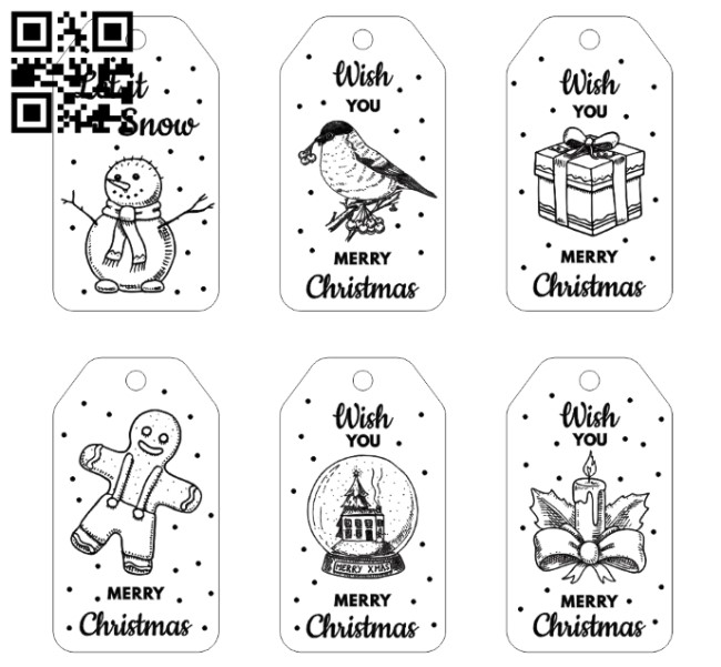 Christmas card E0012100 file cdr and dxf free vector download for print or laser engraving machines