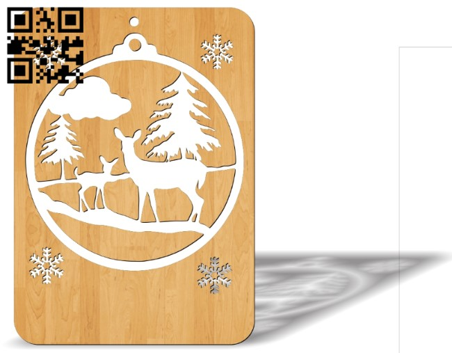 Christmas cards E0012199 file cdr and dxf free vector download for laser cut