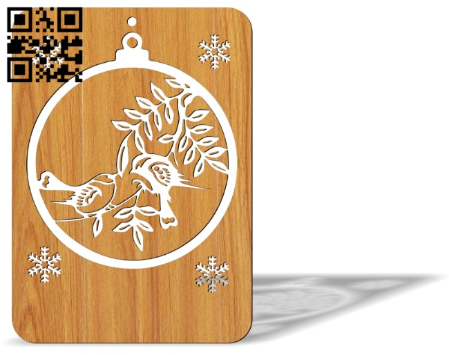 Christmas cards E0012200 file cdr and dxf free vector download for laser cut