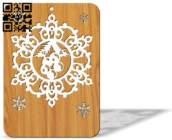 Christmas cards E0012201 file cdr and dxf free vector download for laser cut