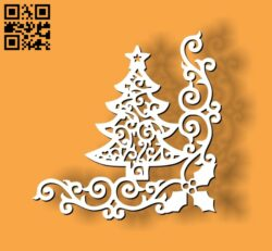 Christmas corner decoration E0012010 file cdr and dxf free vector download for laser cut