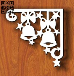 Christmas corner decoration E0012046 file cdr and dxf free vector download for laser cut
