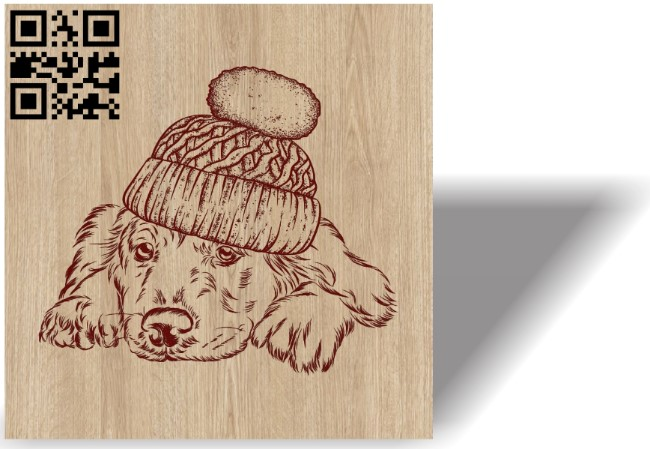 Christmas dog E0012129 file cdr and dxf free vector download for laser engraving machines