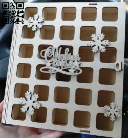 Christmas gift boxes E0012136 file cdr and dxf free vector download for laser cut