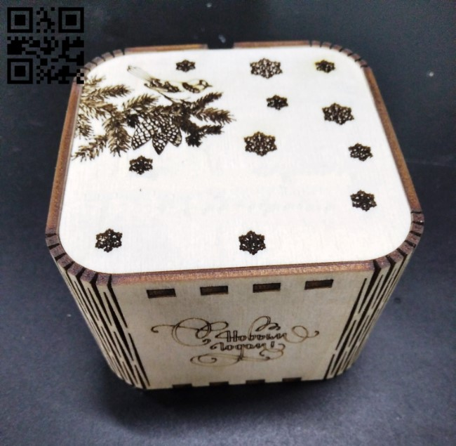 Christmas gift boxes E0012187 file cdr and dxf free vector download for laser cut