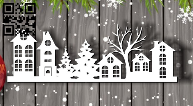 Christmas house E0012128 file cdr and dxf free vector download for laser cut plasma
