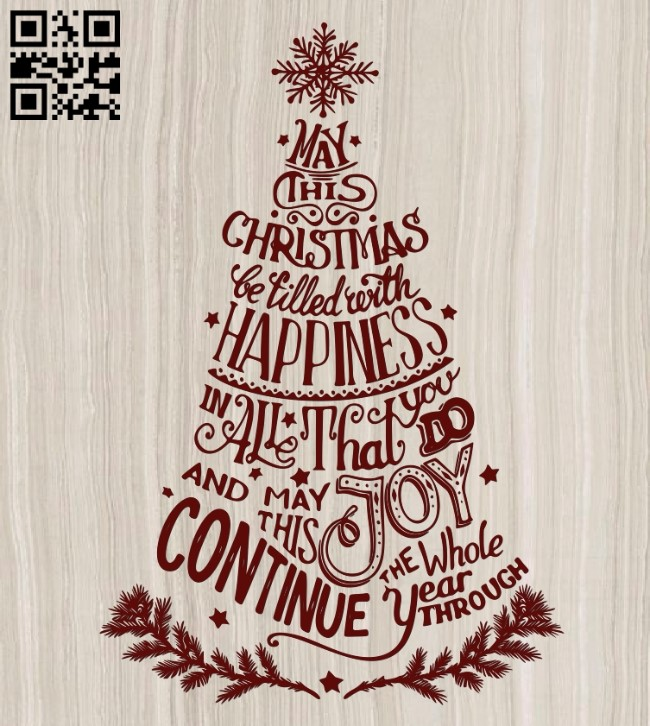 Christmas lettering E0012212 file cdr and dxf free vector download for laser engraving machines