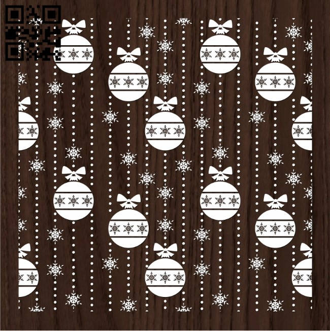 Christmas seamlessly E0012102 file cdr and dxf free vector download for print or laser engraving machines