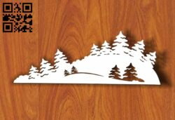 Christmas tree E0012027 file cdr and dxf free vector download for laser cut plasma