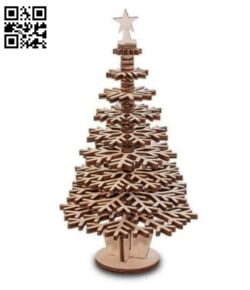 Christmas tree E0012239 file cdr and dxf free vector download for laser cut