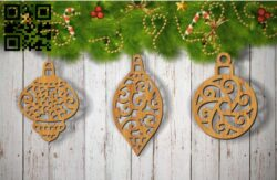 Christmas tree decoration toys E0012029 file cdr and dxf free vector download for laser cut