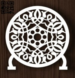 Circle ornament E0011989 file cdr and dxf free vector download for laser cut plasma