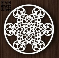 Circle ornament E0011990 file cdr and dxf free vector download for laser cut plasma
