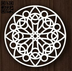 Circle ornament E0011991 file cdr and dxf free vector download for laser cut plasma