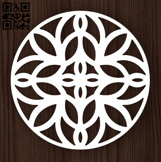 Circle ornament E0011992 file cdr and dxf free vector download for laser cut plasma