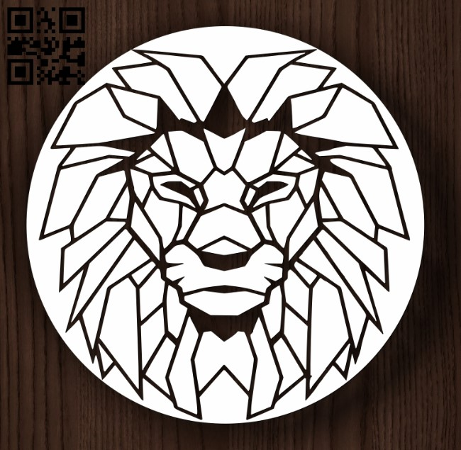 Circle ornament with lions E0011988 file cdr and dxf free vector download for laser cut plasma