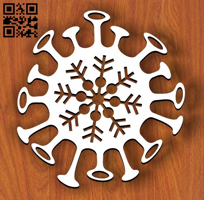 Corona snowflakes E0012179 file cdr and dxf free vector download for laser cut