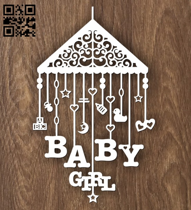Decoration for children E0012230 file cdr and dxf free vector download for laser cut