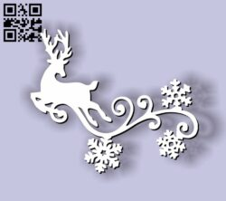Deer decorative corner E0012011 file cdr and dxf free vector download for laser cut