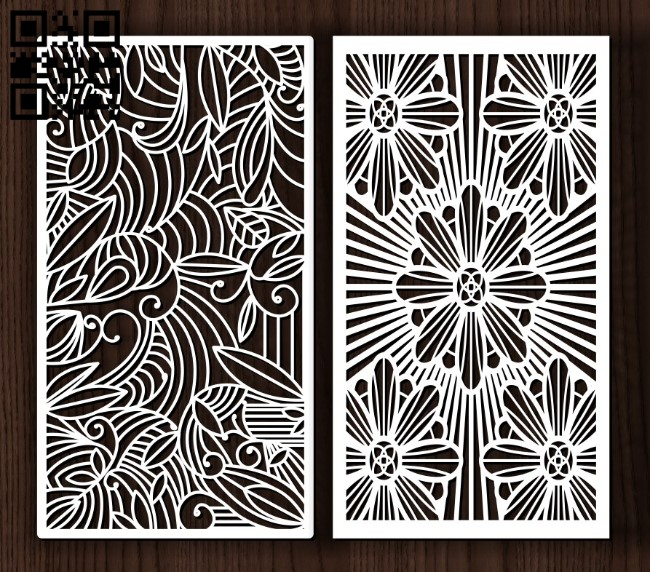 Design pattern screen panel E0011964 file cdr and dxf free vector download for Laser cut cnc