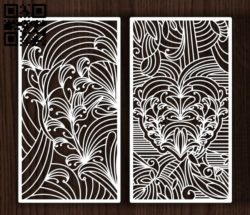 Design pattern screen panel  E0011965 file cdr and dxf free vector download for Laser cut cnc
