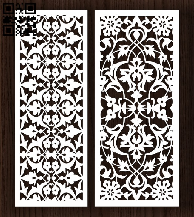 Design pattern screen panel E0011986 file cdr and dxf free vector download for laser cut CNC