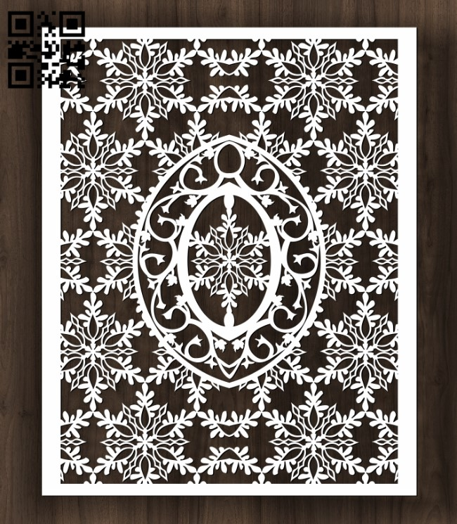 Design pattern screen panel E0012233 file cdr and dxf free vector download for laser cut CNC