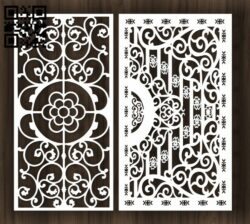 Design pattern screen panel E0012234 file cdr and dxf free vector download for laser cut CNC