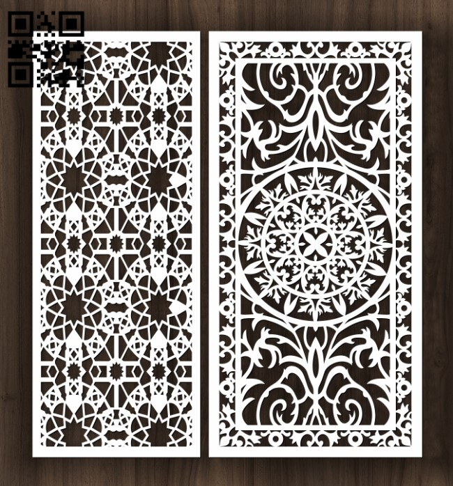 Design pattern screen panel E0012235 file cdr and dxf free vector download for laser cut CNC