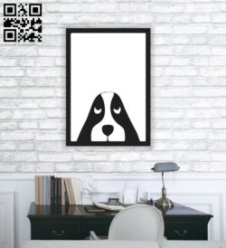 Dog murals E0012115 file cdr and dxf free vector download for laser cut plasma