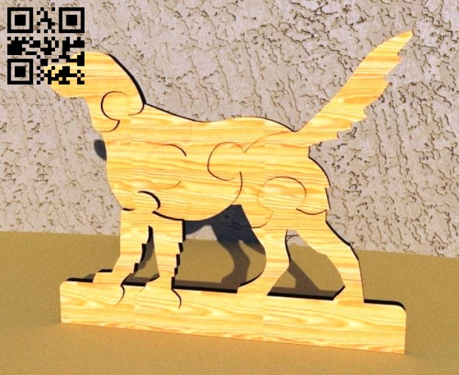 Dog puzzle E0012177 file cdr and dxf free vector download for laser cut
