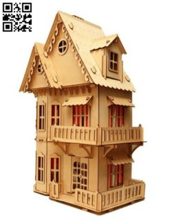 Dollhouse E0012072 file cdr and dxf free vector download for laser cut