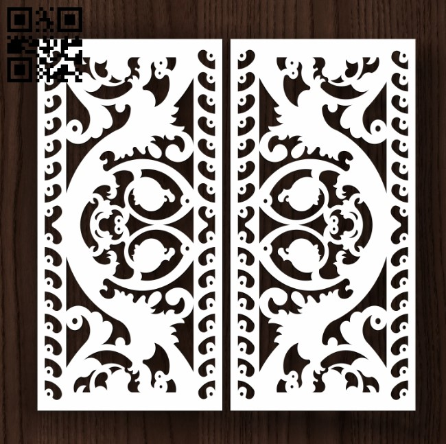 Door E0011994 file cdr and dxf free vector download for laser cut cnc