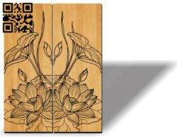 Door motifs E0012097 file cdr and dxf free vector download for laser engraving machines