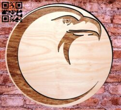 Eagle head E0012018 file cdr and dxf free vector download for laser engraving machines