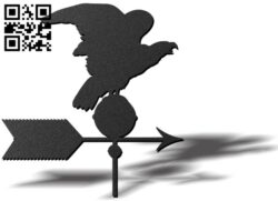 Eagle weather wind vane E0012108 file cdr and dxf free vector download for laser cut plasma