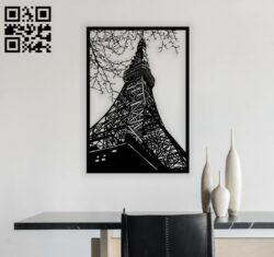 Eiffel tower E0012222 file cdr and dxf free vector download for laser engraving machines