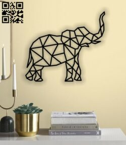Elephant E0012191 file cdr and dxf free vector download for laser cut plasma