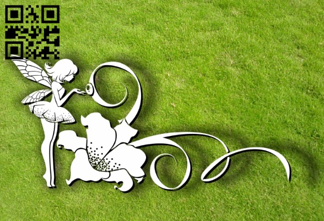 Fairies with lily E0012013 file cdr and dxf free vector download for laser cut