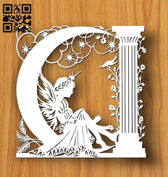 Fairy E0012248 file cdr and dxf free vector download for laser cut