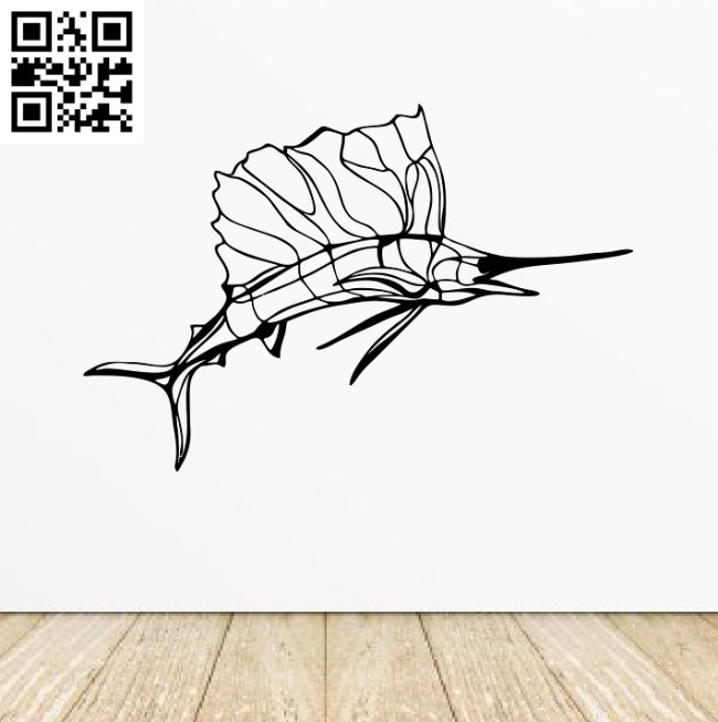 Fish Sailboat E0012117 file cdr and dxf free vector download for laser cut plasma