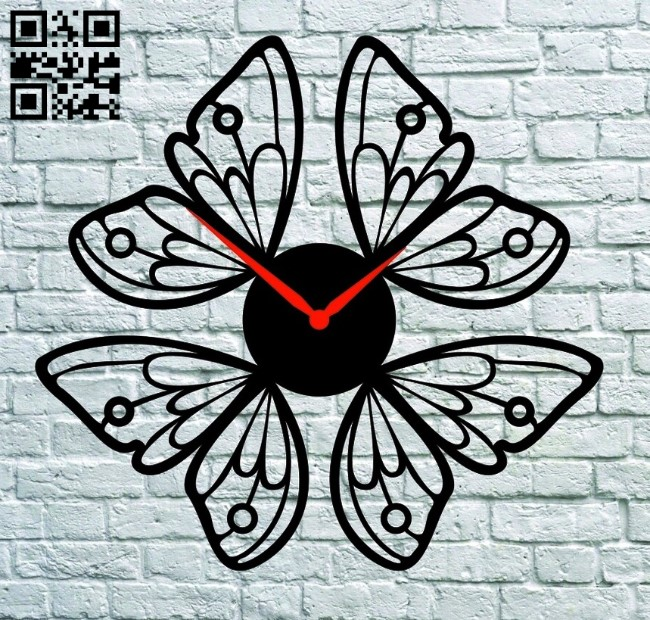 Flower clock E0012040 file cdr and dxf free vector download for laser cut