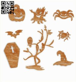 Halloween E0012067 file cdr and dxf free vector download for laser cut