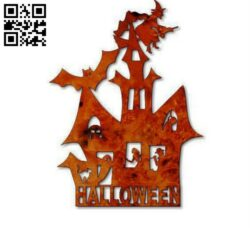 Halloween house E0012069 file cdr and dxf free vector download for laser cut