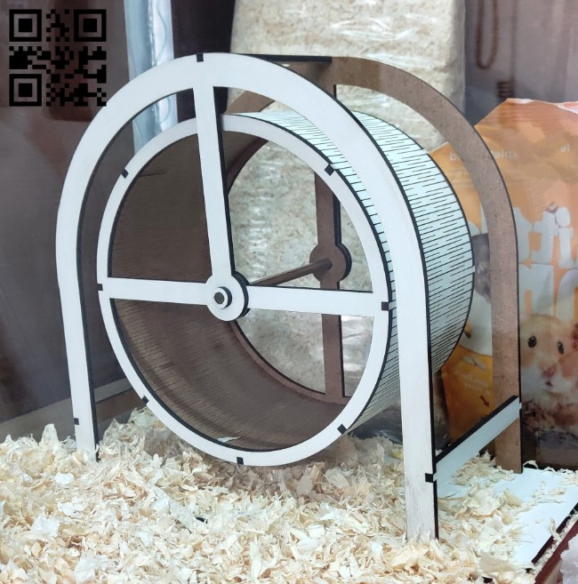 Hamster wheel E0012052 file cdr and dxf free vector download for laser cut