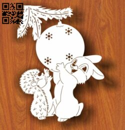 Hedgehog rabbit E0012245 file cdr and dxf free vector download for laser engraving machines